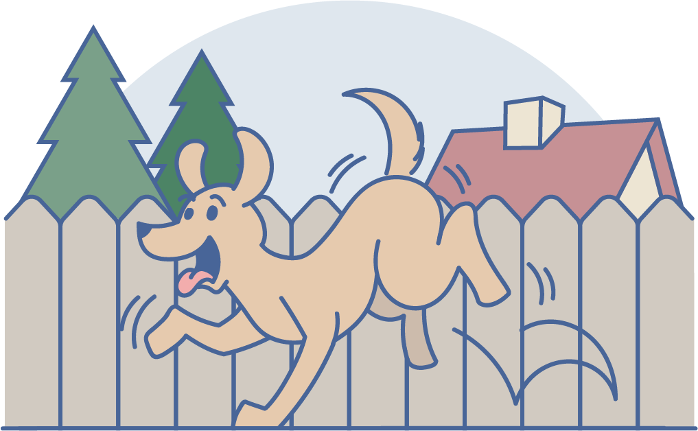 angst bei hunden illustration